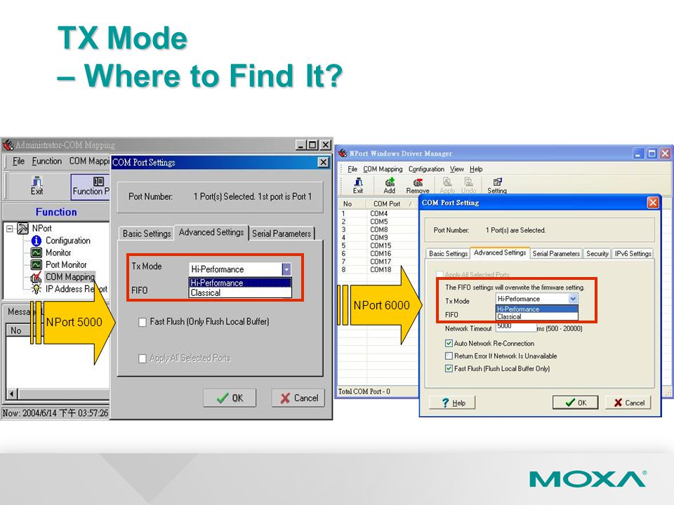 TX Mode – Where to Find It