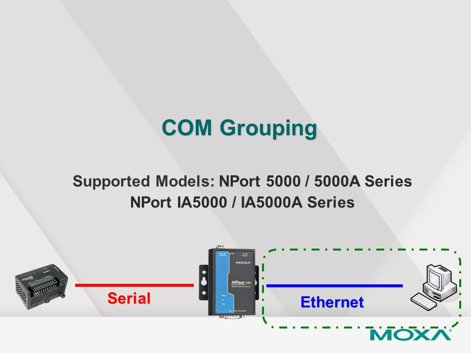 Supported Models: NPort 5000 / 5000A Series