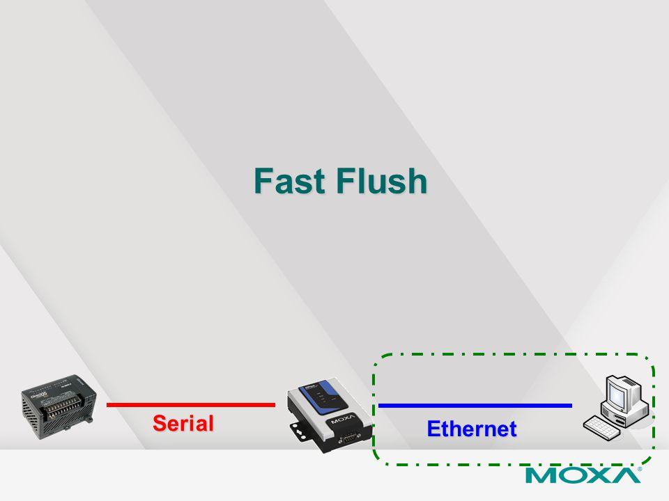 Fast Flush Serial Ethernet