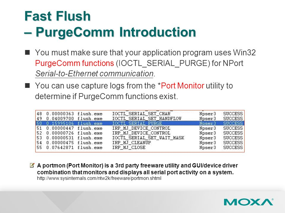 Fast Flush – PurgeComm Introduction