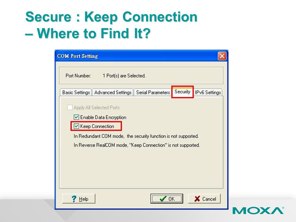 Secure : Keep Connection – Where to Find It