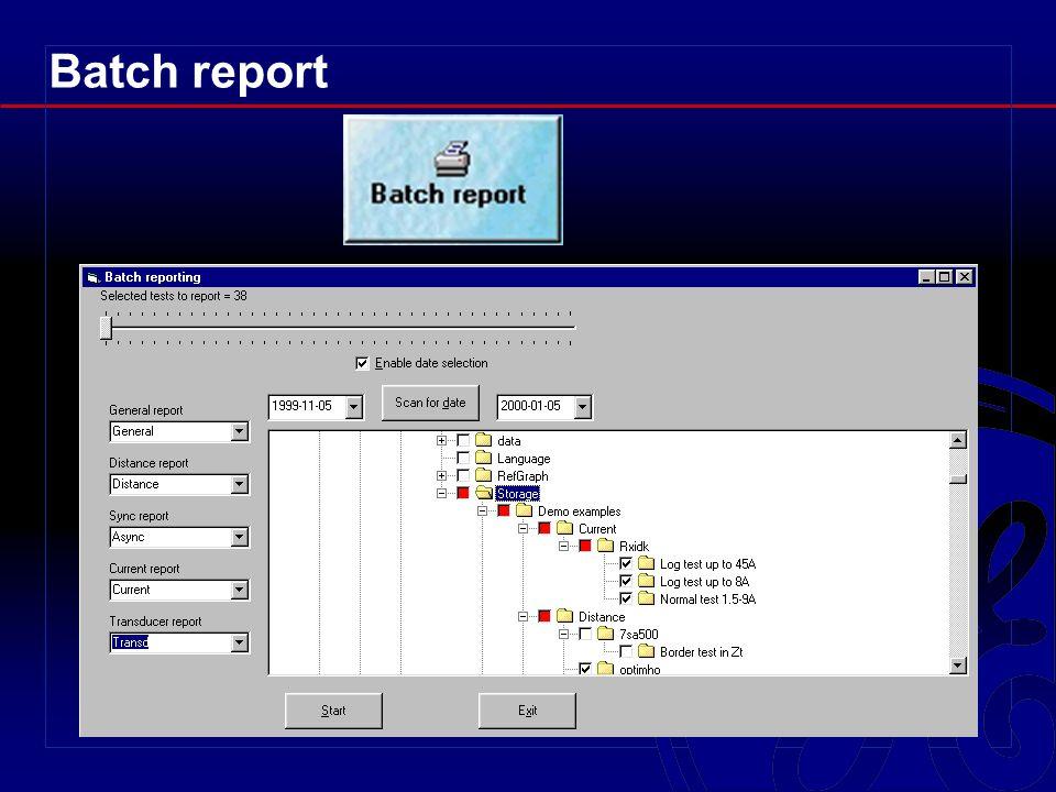 Batch report