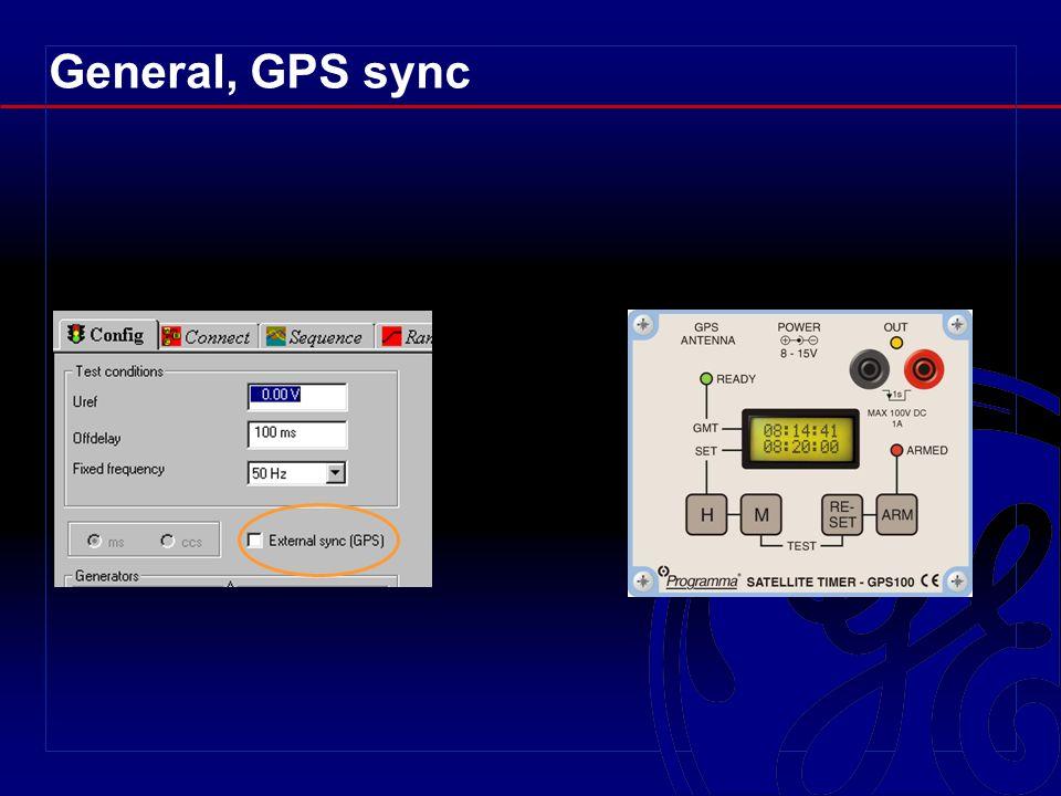 General, GPS sync