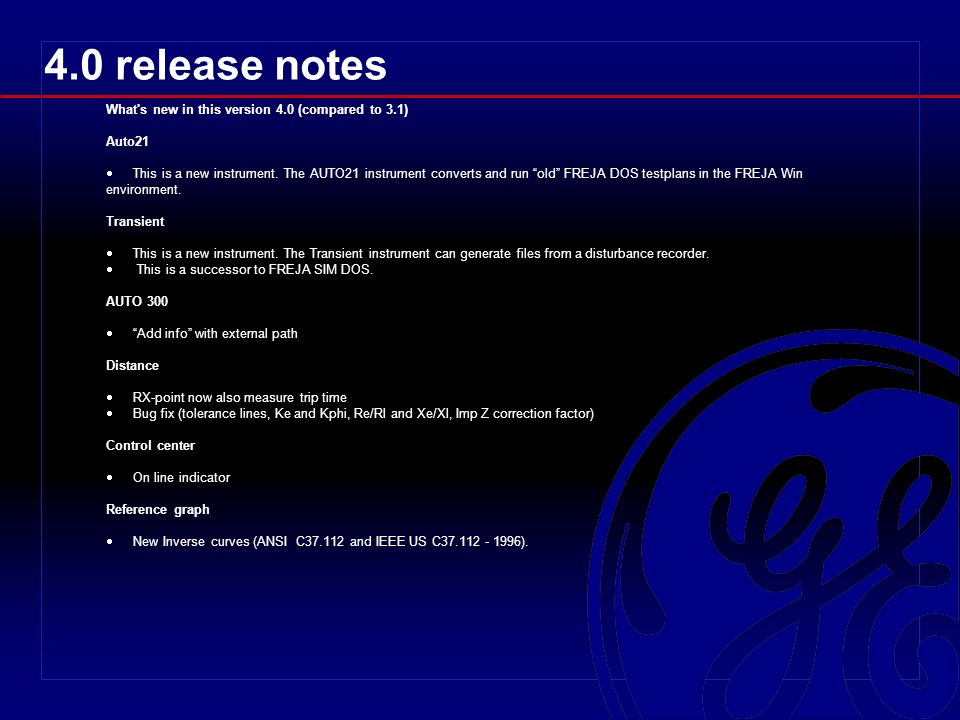 4.0 release notes What s new in this version 4.0 (compared to 3.1)