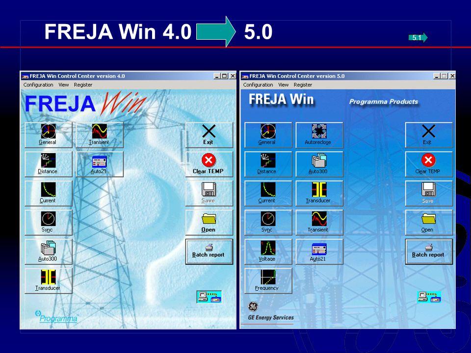 FREJA Win 4.0 5.0 5.1