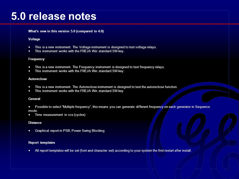 5.0 release notes What s new in this version 5.0 (compared to 4.0)