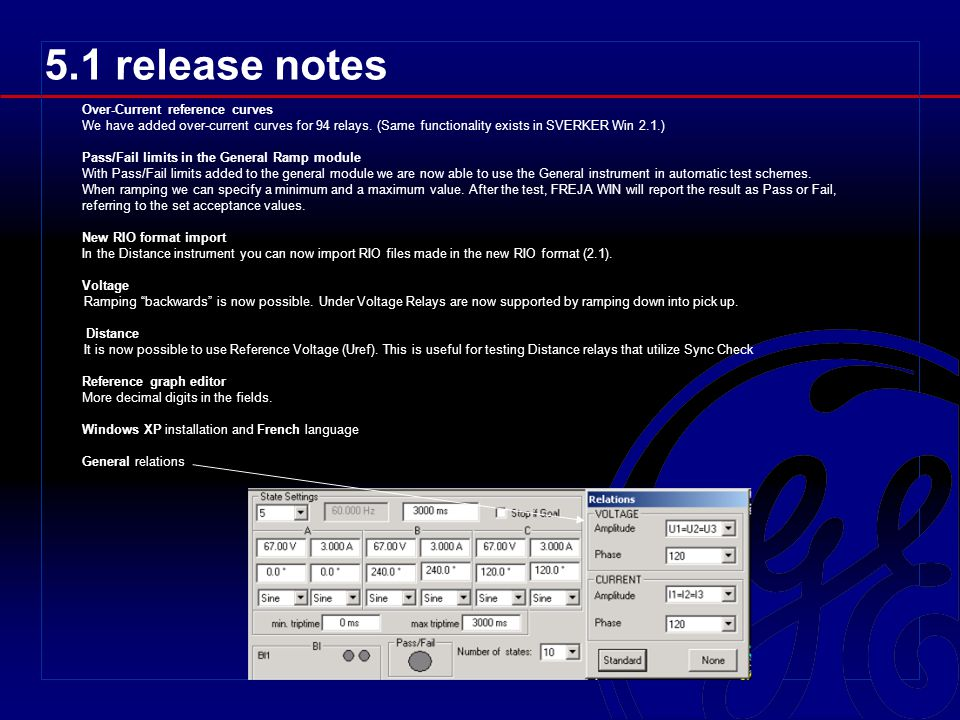5.1 release notes Over-Current reference curves