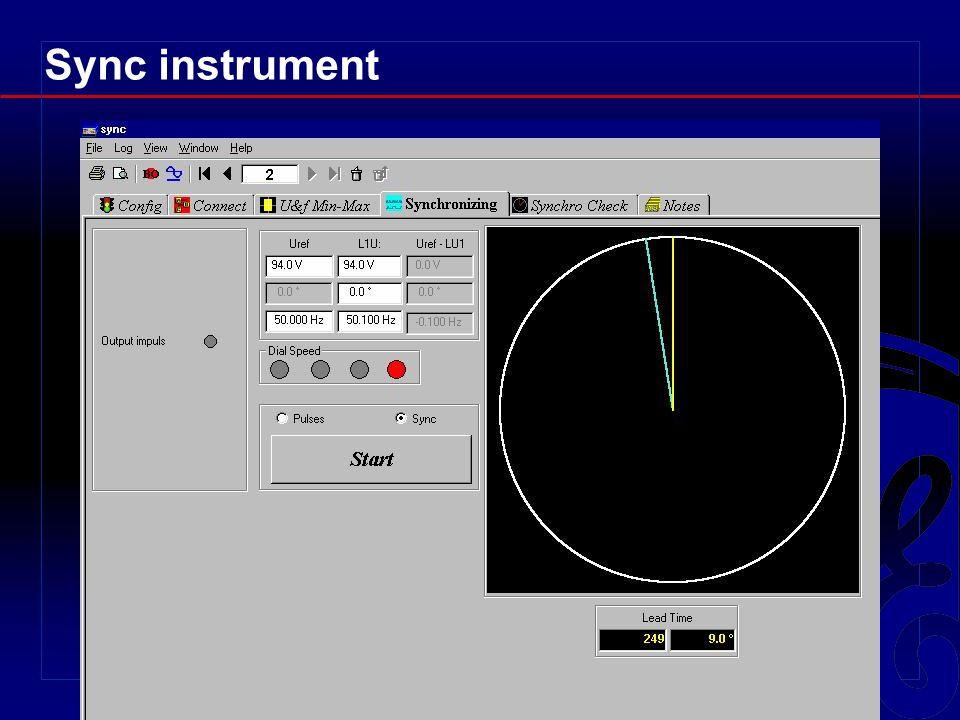 Sync instrument