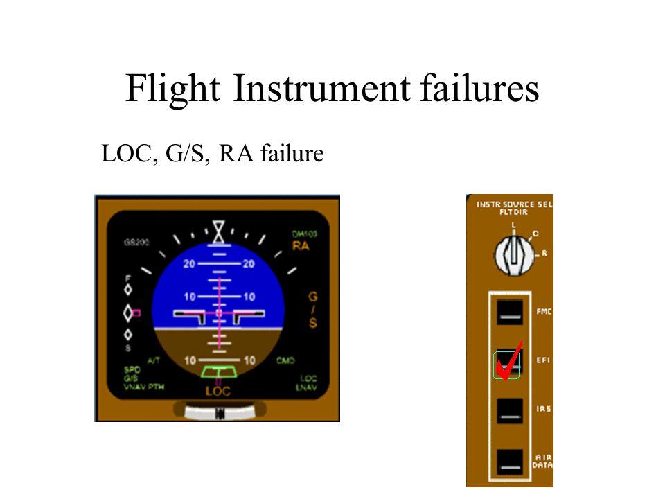 Flight Instrument failures