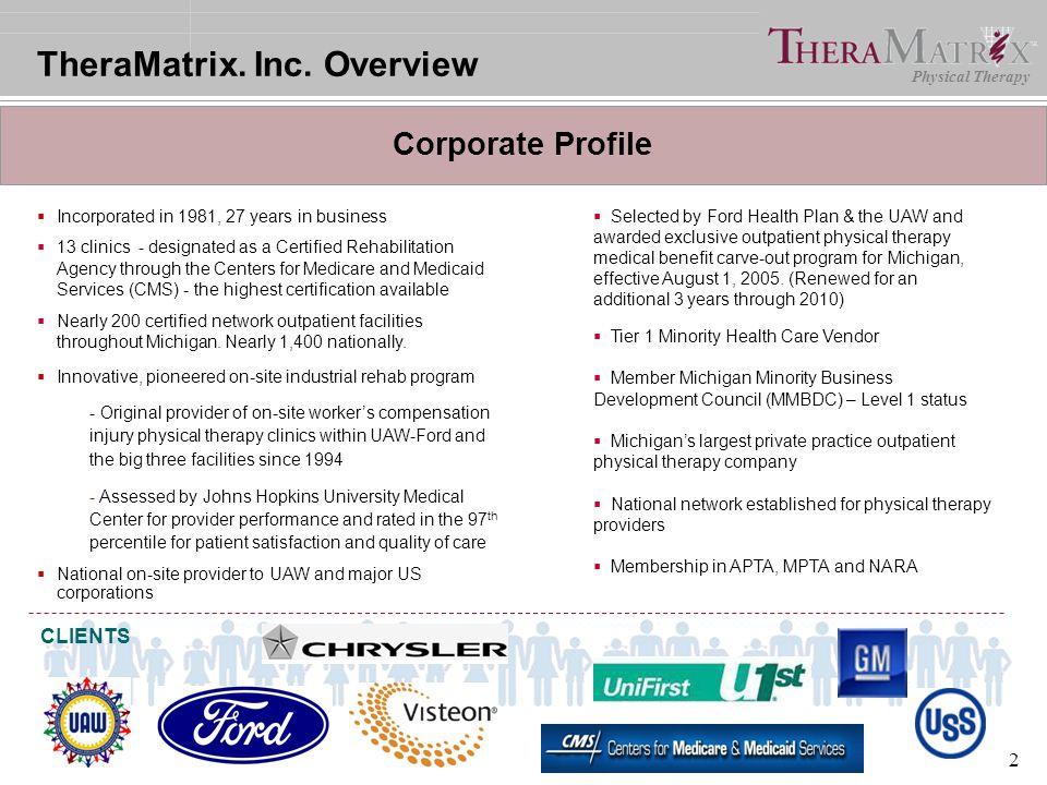 TheraMatrix. Inc. Overview