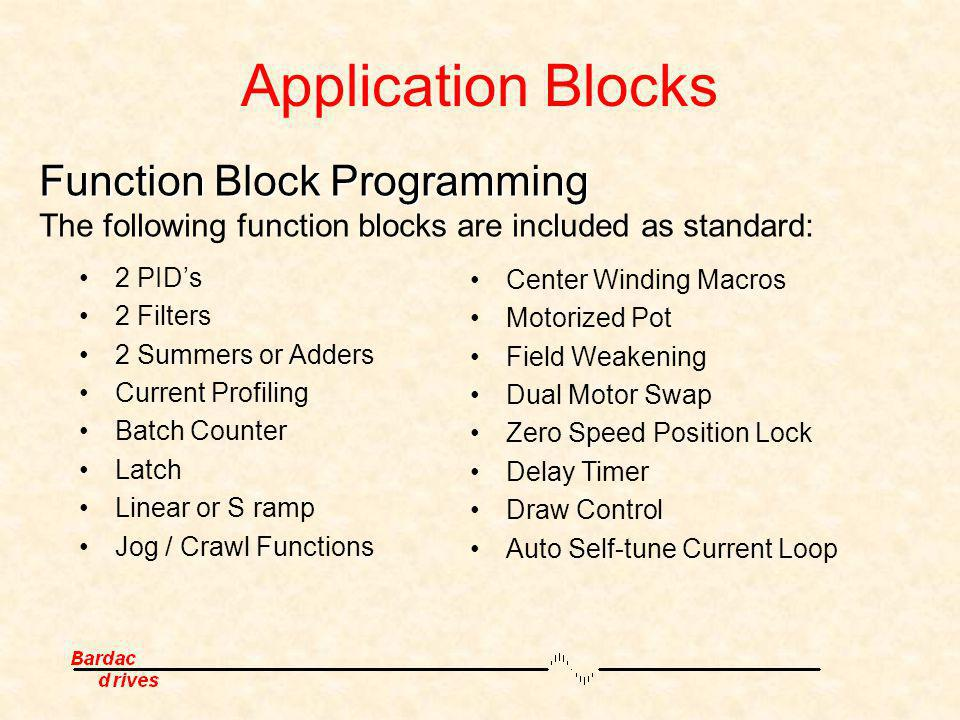 Application Blocks Function Block Programming