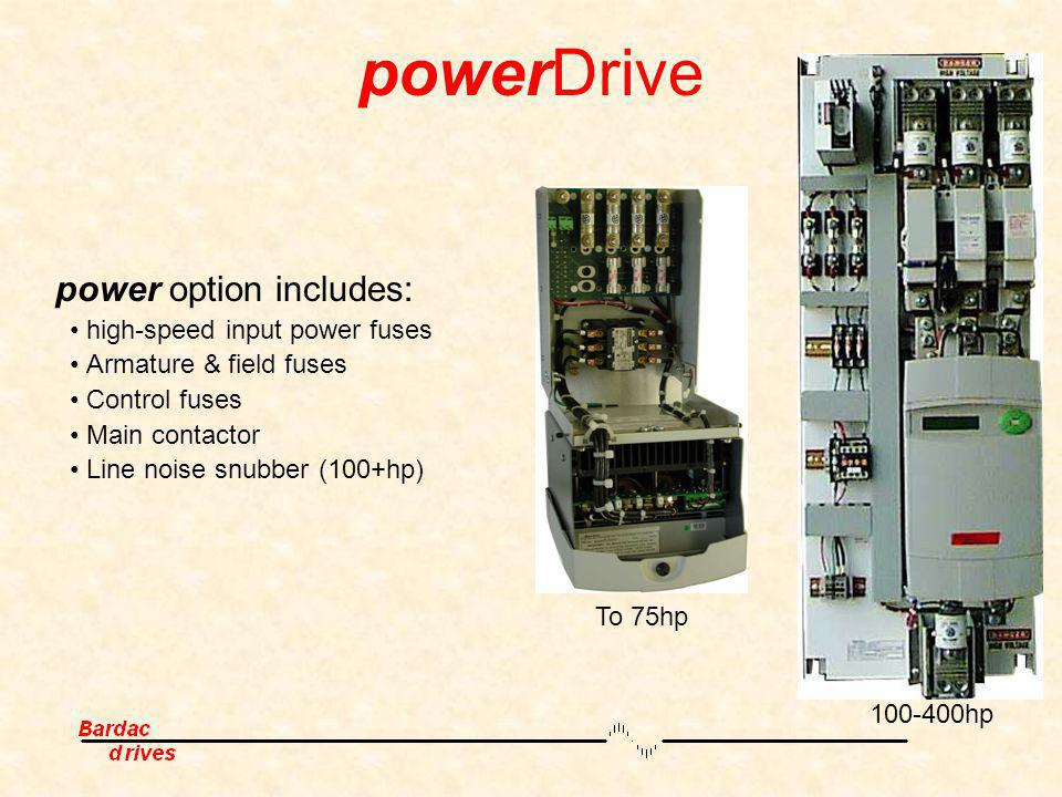 powerDrive power option includes: • high-speed input power fuses