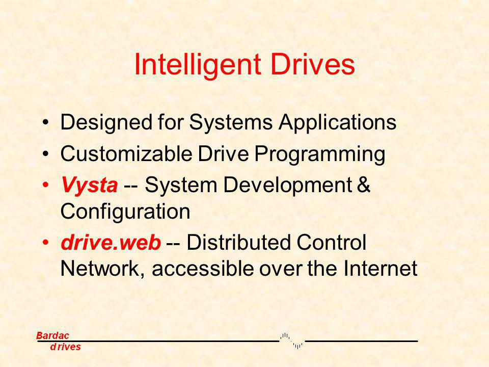 Intelligent Drives Designed for Systems Applications