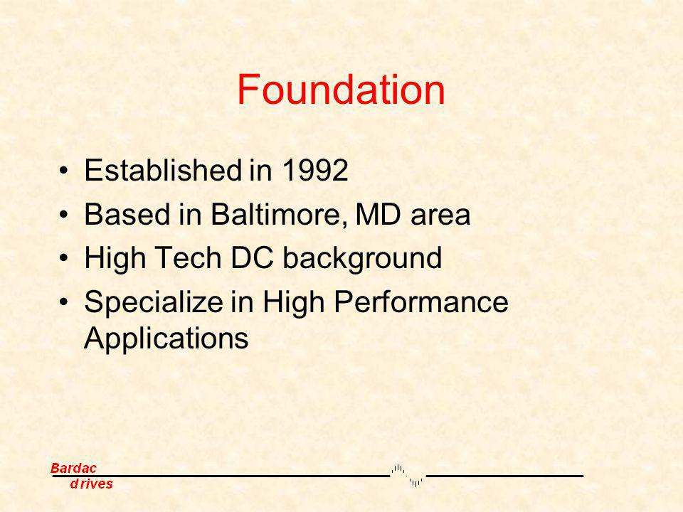 Foundation Established in 1992 Based in Baltimore, MD area