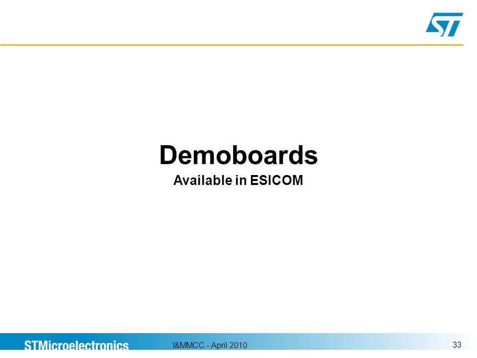 Demoboards Available in ESICOM