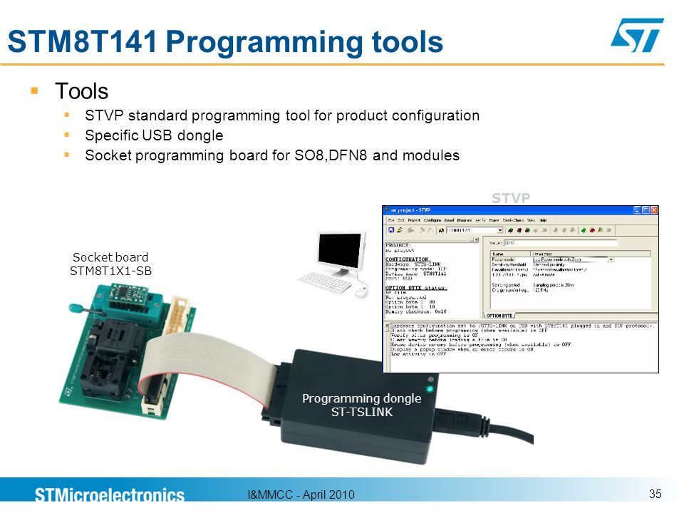 STM8T141 Programming tools