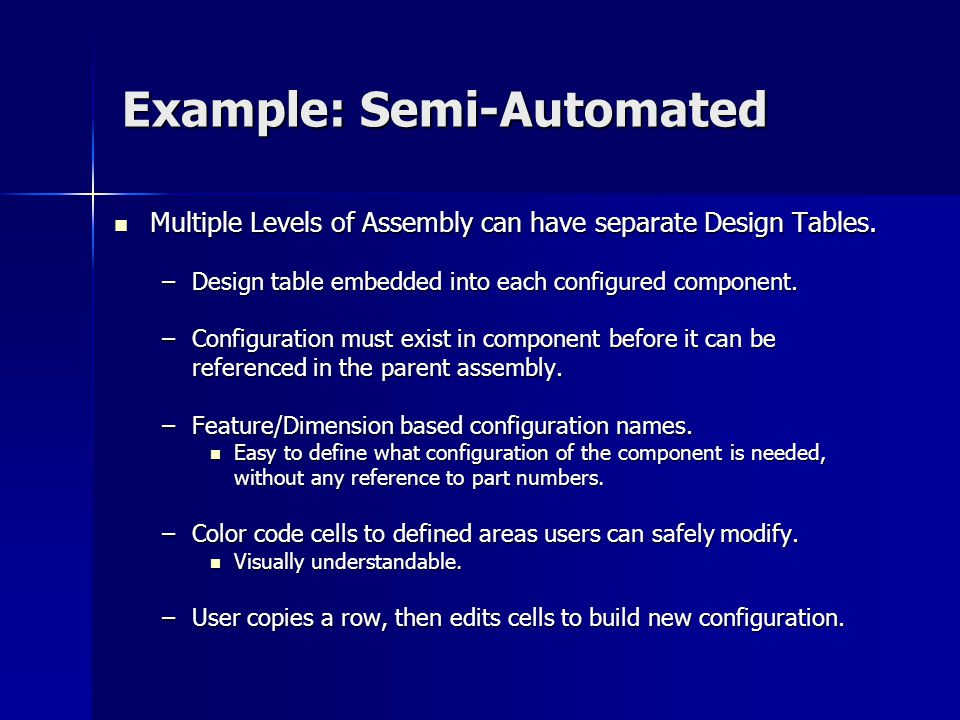 Example: Semi-Automated