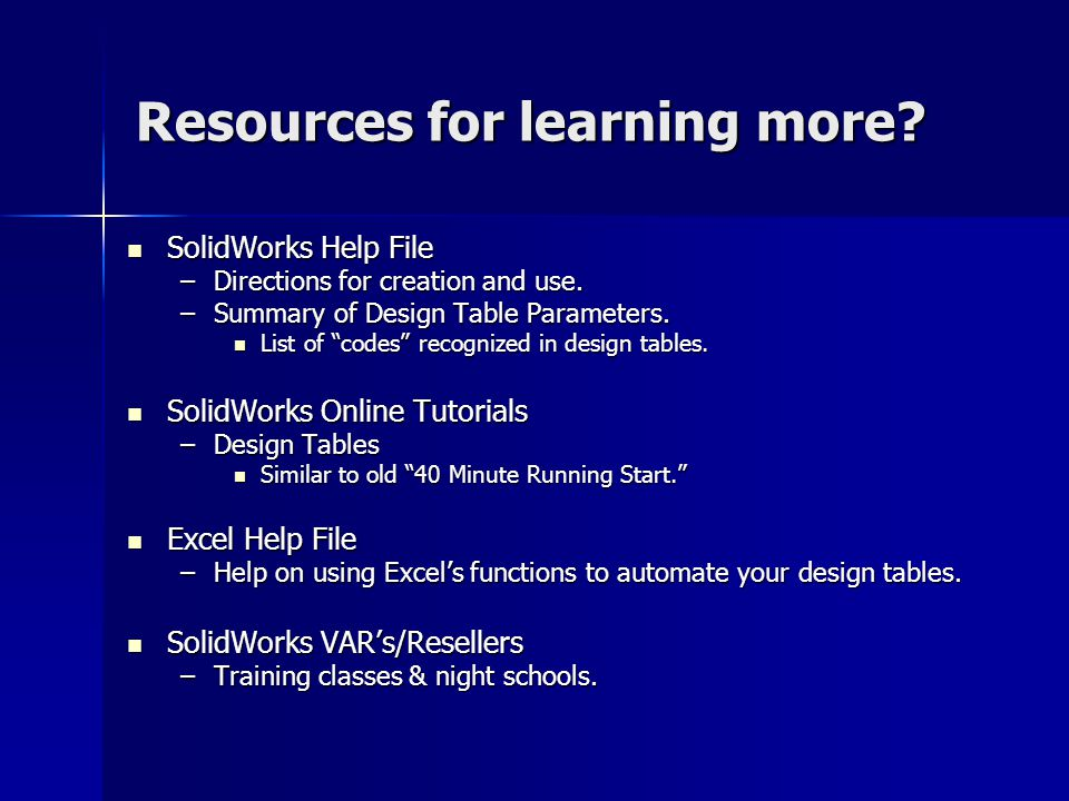 Resources for learning more