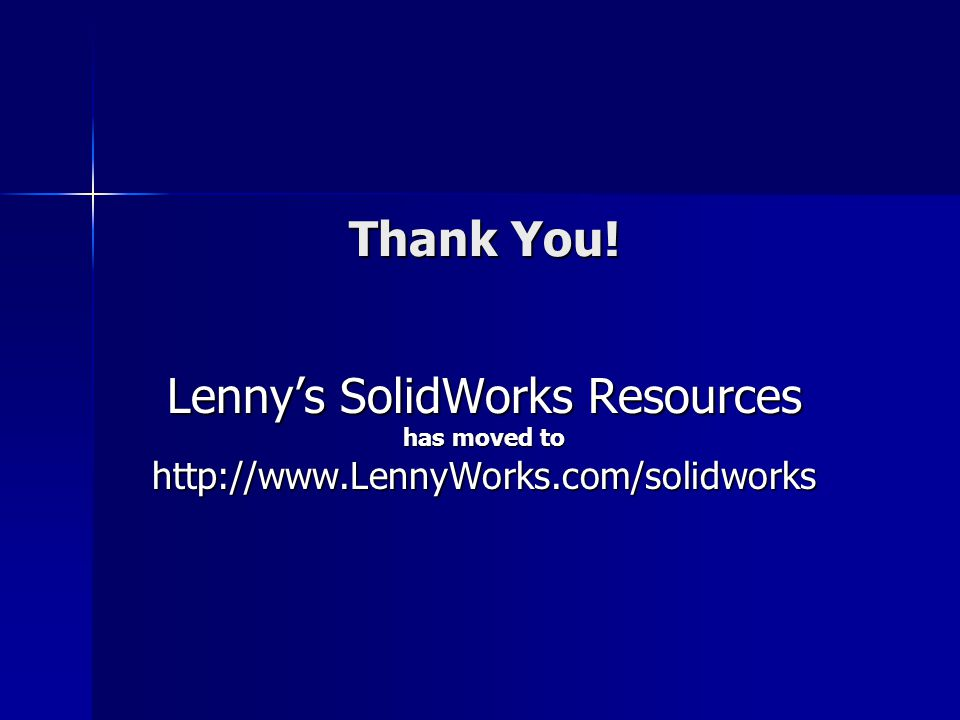 Lenny's SolidWorks Resources
