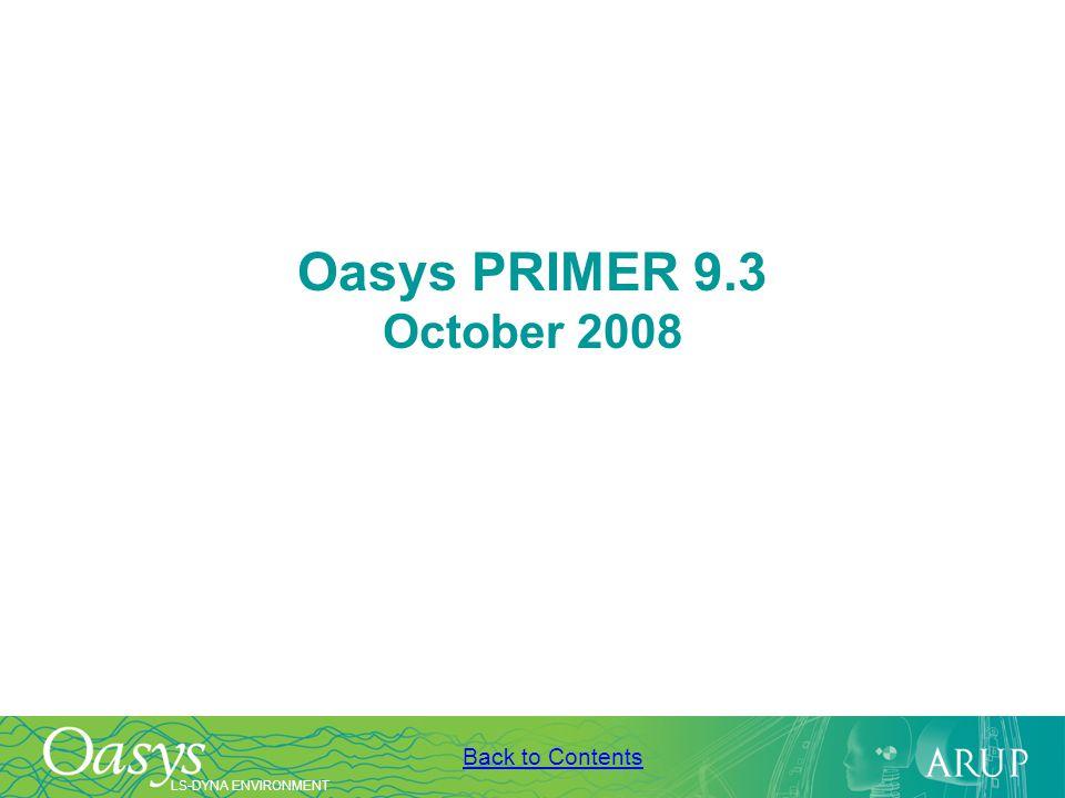 Oasys PRIMER 9.3 October 2008