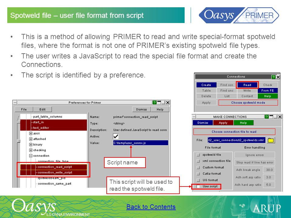 Spotweld file – user file format from script