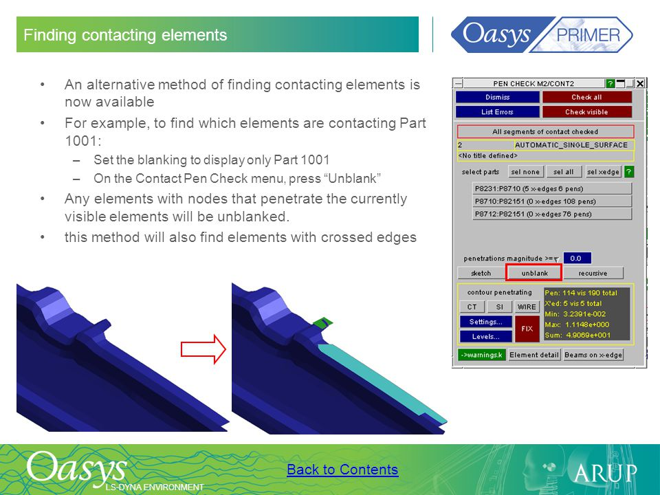 Finding contacting elements