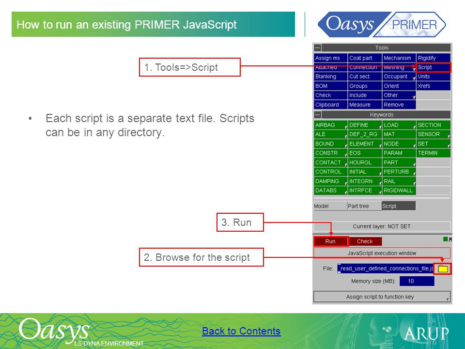 How to run an existing PRIMER JavaScript