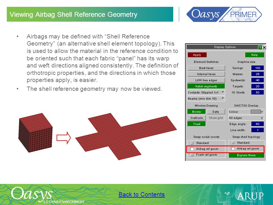 Viewing Airbag Shell Reference Geometry