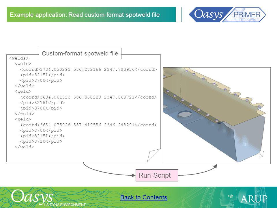 Example application: Read custom-format spotweld file