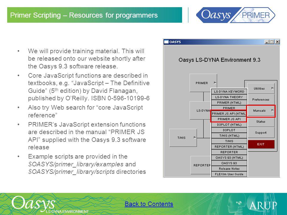 Primer Scripting – Resources for programmers