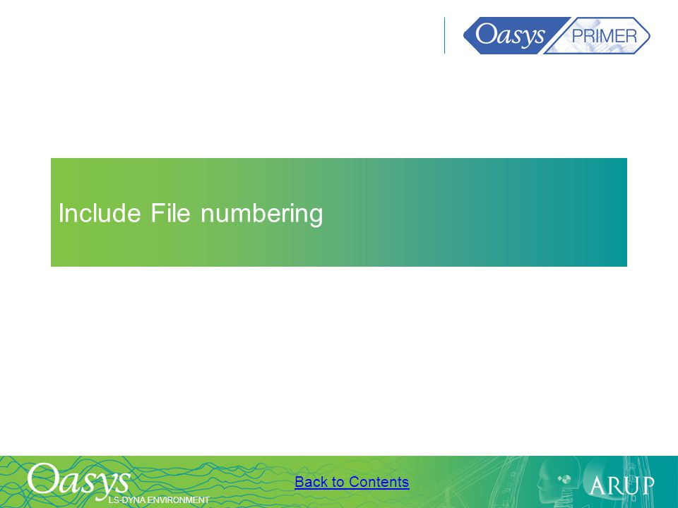 Include File numbering