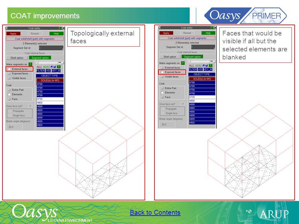 COAT improvements Topologically external faces