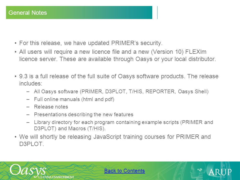 For this release, we have updated PRIMER's security.