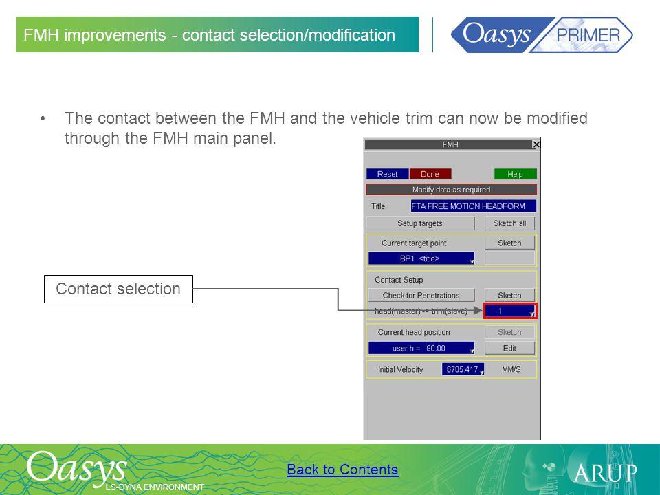 FMH improvements - contact selection/modification