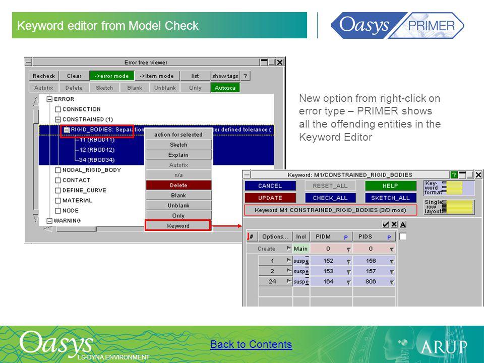 Keyword editor from Model Check