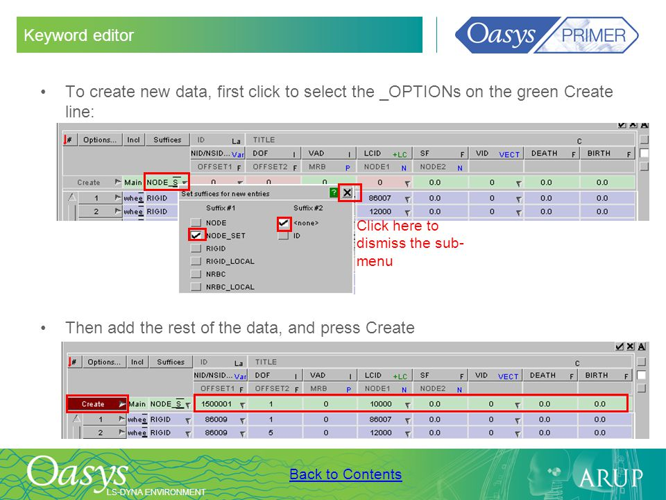 Then add the rest of the data, and press Create