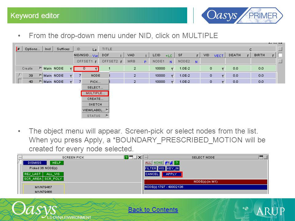 Keyword editor From the drop-down menu under NID, click on MULTIPLE.