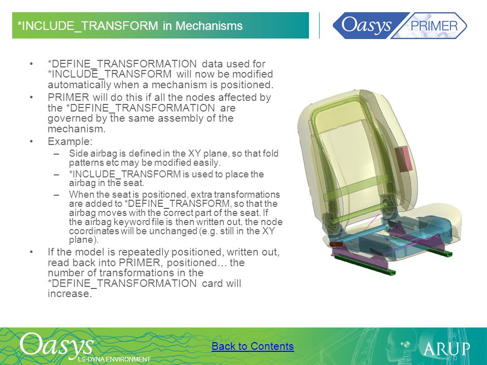 *INCLUDE_TRANSFORM in Mechanisms