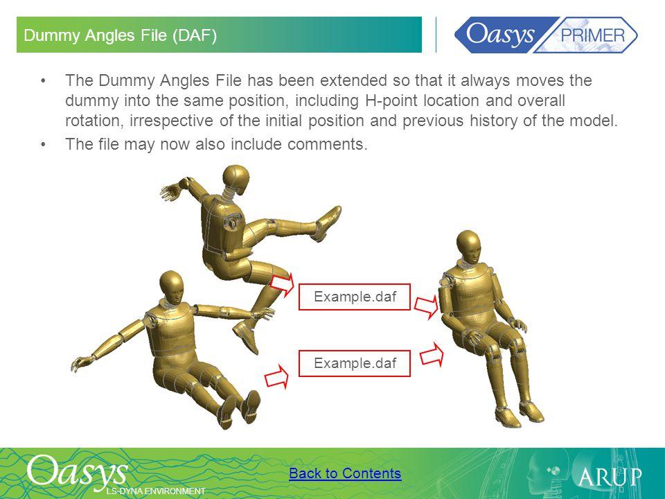 Dummy Angles File (DAF)