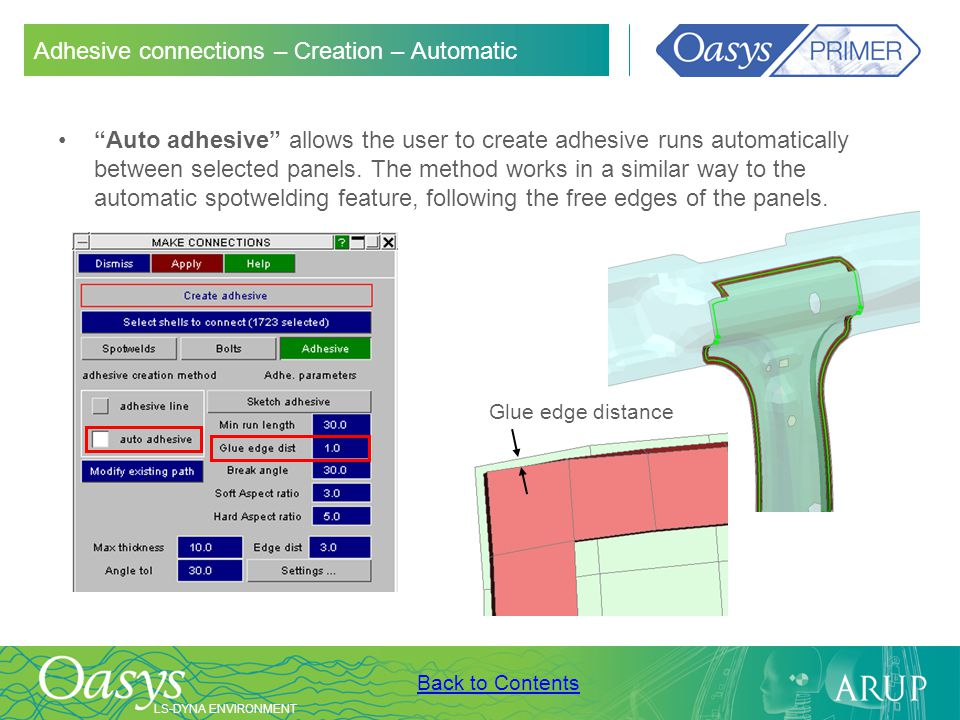 Adhesive connections – Creation – Automatic