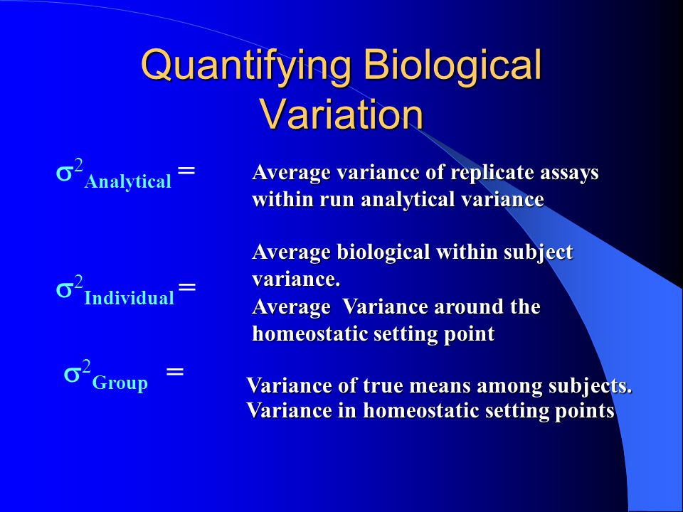 Quantifying Biological Variation