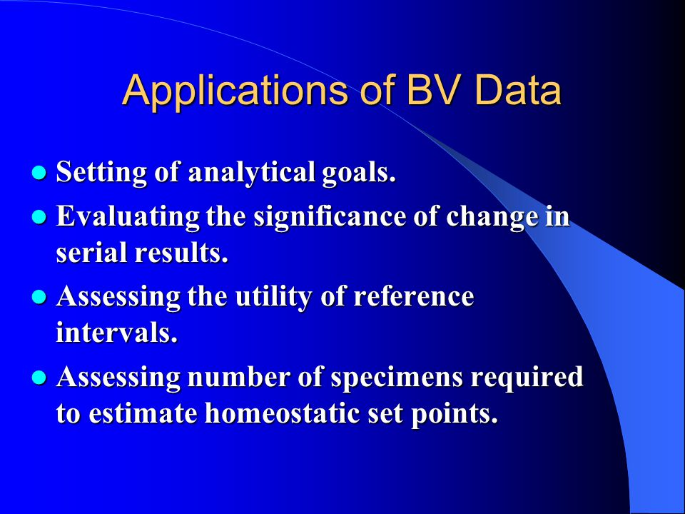 Applications of BV Data