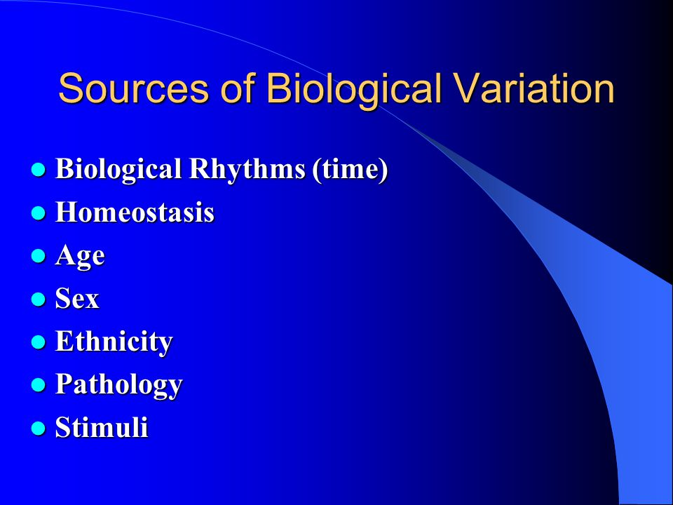 Sources of Biological Variation