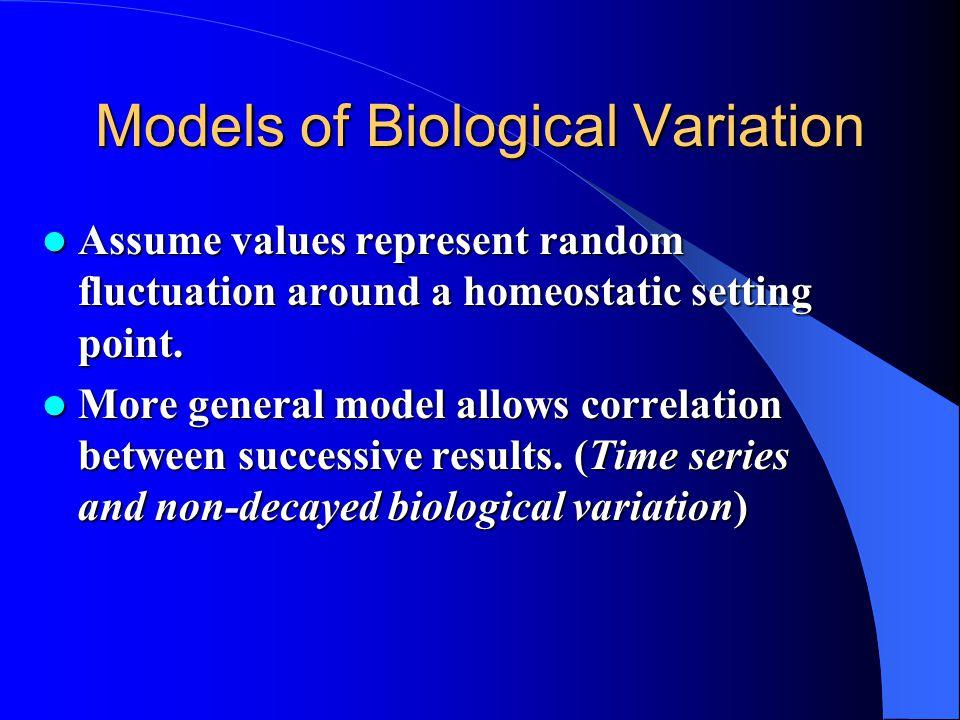 Models of Biological Variation