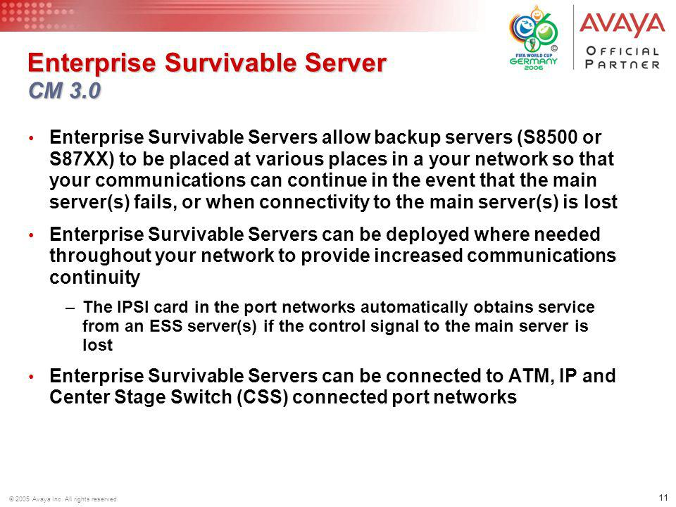 Enterprise Survivable Server CM 3.0