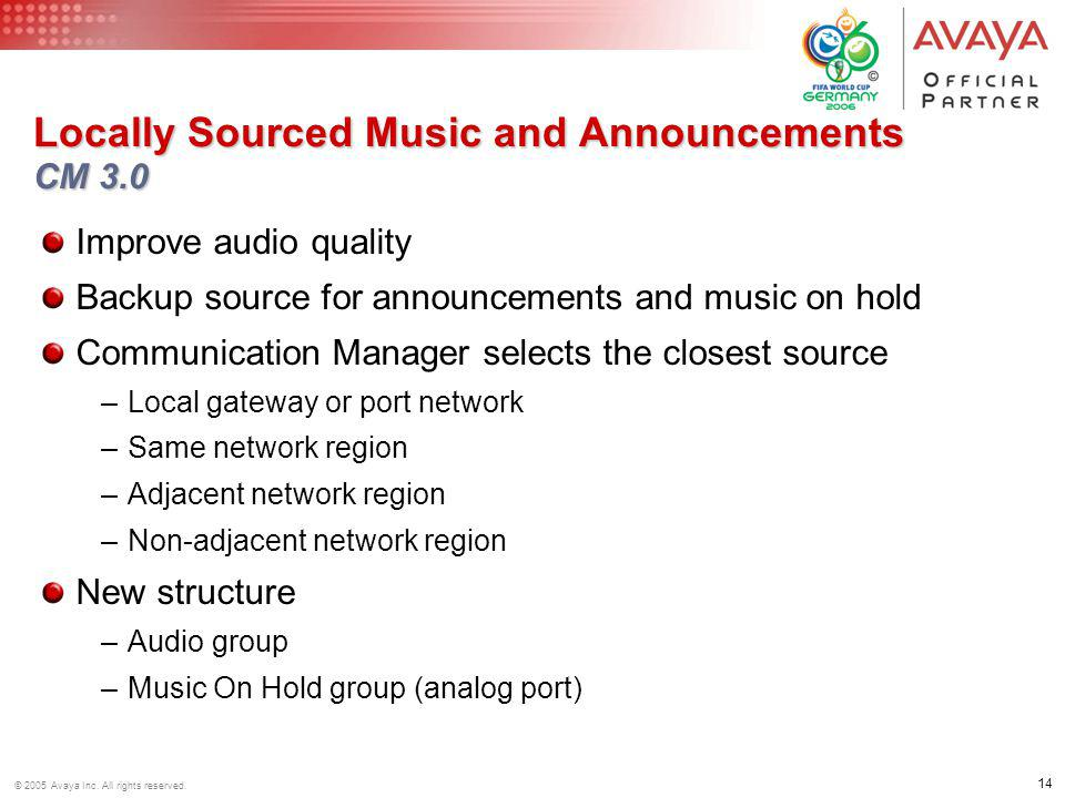 Locally Sourced Music and Announcements CM 3.0