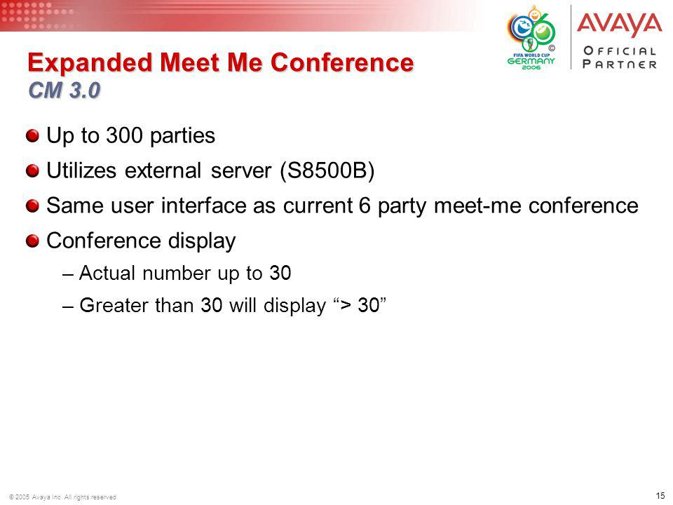 Expanded Meet Me Conference CM 3.0