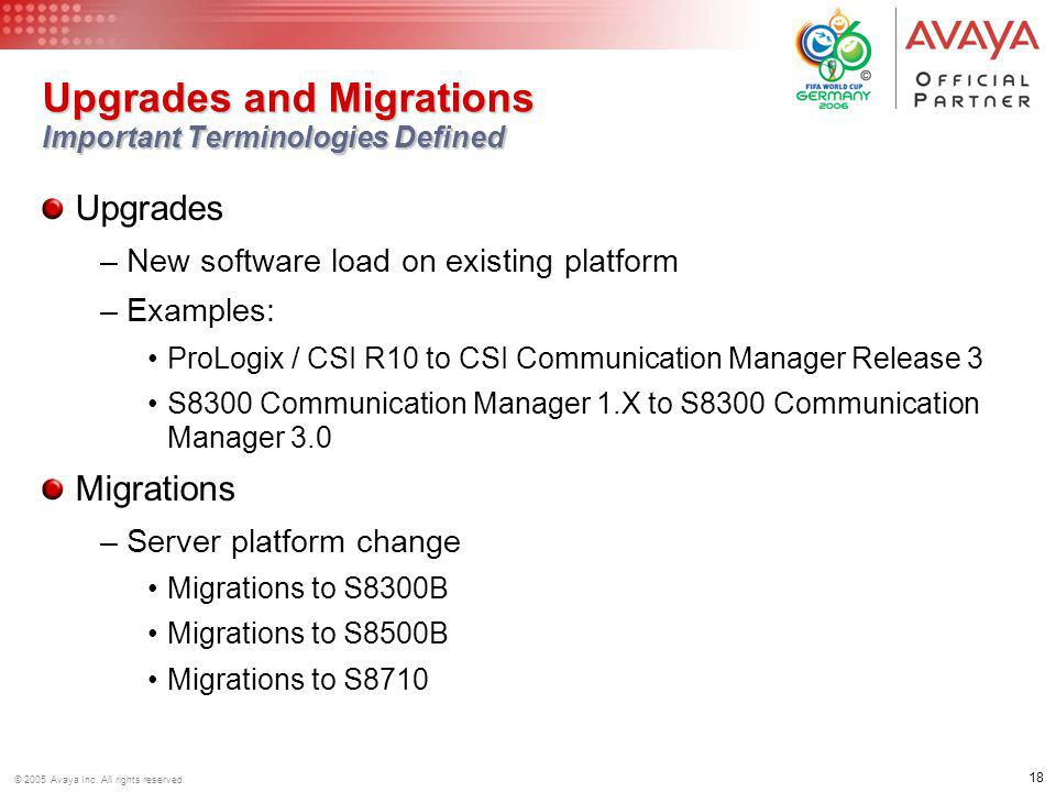 Upgrades and Migrations Important Terminologies Defined
