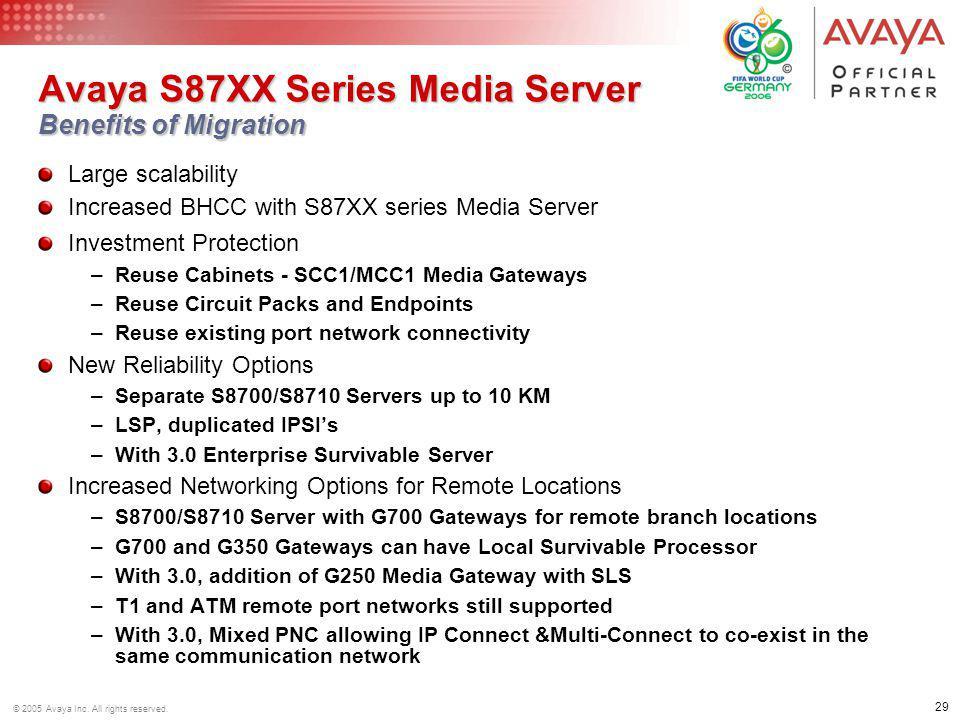 Avaya S87XX Series Media Server Benefits of Migration