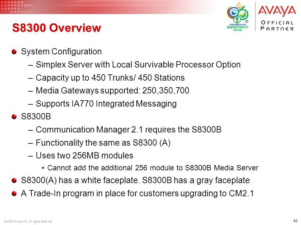 S8300 Overview System Configuration